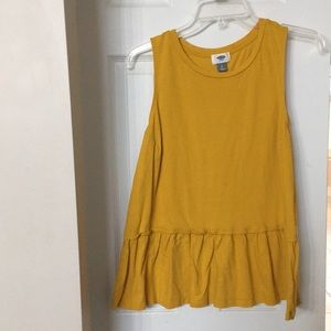 Old Navy Mustard Sleeveless Blouse